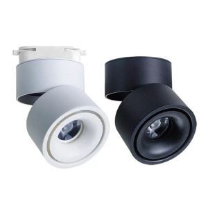 Exposed LED Round Spotlight COB Ceiling Track Light Nordic Foldable Lighting(Single Light)