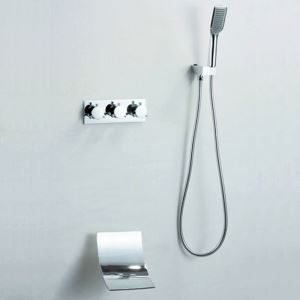 Modern Simple Shower Faucet Waterfall Wall Mount Shower System