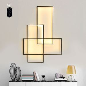 Postmodern Simple Ceiling Light Creative Rectangles Sconce Living Room Bedroom Background Lighting