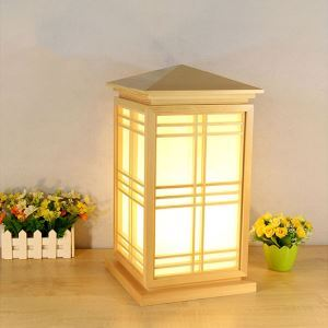House Shape Table Lamp Japanese Creative Floor Lamp Dining Room Hotel Hallway Wooden Floor Light