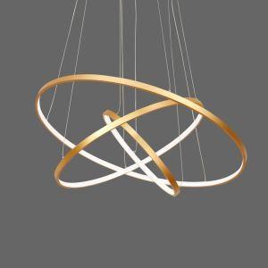 Modern LED Pendant Light Black Ring Ceiling Light 3 Circles 80+60+40cm