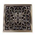 Bathroom Accessory Antique Brass Finish Solid Brass Floor Drain-LK-1060