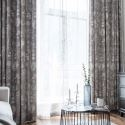 Simple Rural Curtain Leaf Printed Curtain Living Room Bedroom Study Blackout Fabric(One Panel)