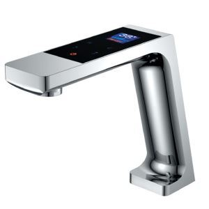 Screen Display Basin Faucet Intelligent Chrome Bathroom Sink Tap