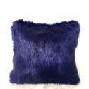 Royal Purple Faux Fox Fur Pillow Cover Sided Fur Pillow Cover