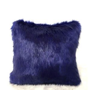 Royal Purple Faux Fox Fur Pillow Cover Sided Fur Pillow Cover