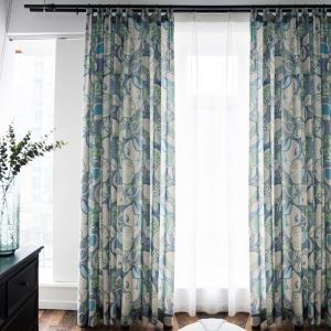 American Abstract Printed Curtain Fruit Pattern Curtain Living Room Bedroom Kid's Room Fabric(One Panel)