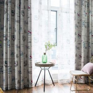 Unique Flower Printed Curtain Special Classical Curtain Living Room Bedroom Study Fabric(One Panel)