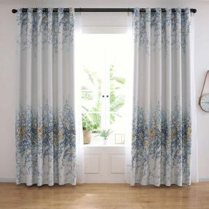 Contemporary Rural Inflorescence Curtain Modern Simple Living Room Bedroom Study Fabric(One Panel)