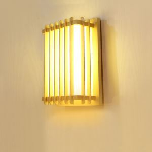 Fence Design LED Wall Sconce Creative Wooden Wall Light Bedside Hallway Decorative Lighting