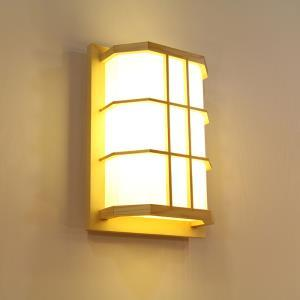 Creative LED Wall Sconce Japanese Wooden Wall Light Bedroom Balcony Lighting