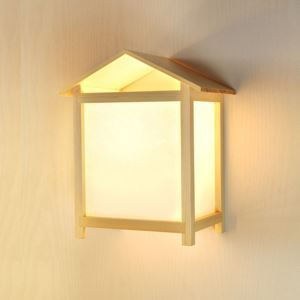Modern Simple Wall Light Creative House Wooden Sconce Bedside Hallway Lighting
