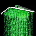 12 inch Stainless Steel Shower Head with Color Changing LED Light