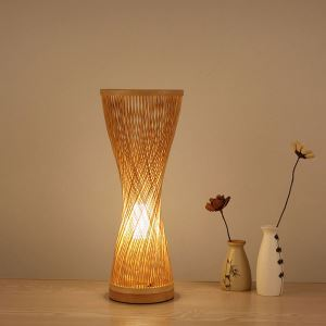 Spiral Bamboo Table Lamp Creative Japanese Desk Light Bedroom Study Decorative Lighting