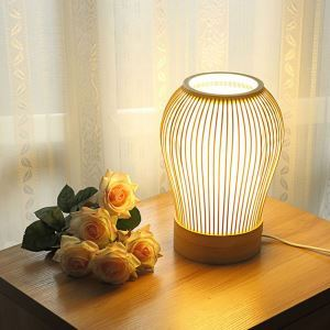 Chinese Simple Table Lamp Modern Bamboo Desk Lamp Bedroom Hotel Room Bureau Lighting
