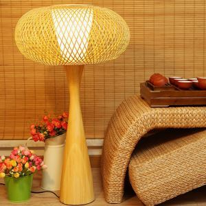 Unusual Creative Table Lamp Japanese Bamboo Desk Lamp Cozy Bedside Lighting