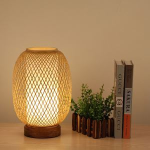 Cocoon Shape Table Lamp Japanese Bamboo Desk Lamp Living Room Decorative Light