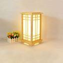 Square Cuboid Lantern Table Lamp Japanese Wooden Floor Standing Lamp