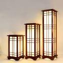Classical Lantern Wooden Large Floor Lamp Bedroom Study Floor Standing Lighting