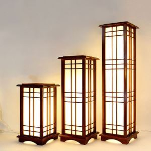 Chinese Classical Table Lamp Creative Wooden Floor Lamp Bedroom Study Floor Standing Lighting