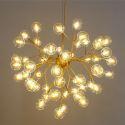 Firefly Pendant Light Nordic LED Pendant Lighting Stoving Varnish Tree Branch and Glowworm Design