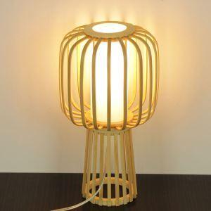 Hand Woven Bamboo Table Lamp Modern Simple Desk Lamp Japanese Style Lighting