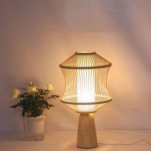 Unusual Bedside Table Lamp Japanese Bamboo Desk Lamp Hotel Room Tearoom Light