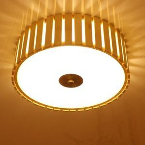 Large Bamboo Flush Mount Chinese Creative Ceiling Light Living Room Bedroom Study Kid's Room Lighting