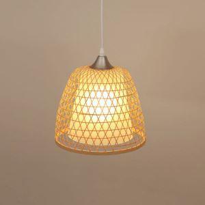 Simple Bamboo Pendant Light Creative Hollow Pendant Light Vestibule Balcony Cloakroom Lighting