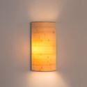 Japanese Bamboo Wall Light Simple Semicircle Wall Sconce Bedside Hallway Lighting
