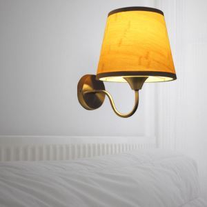 American Rural Wall Sconce Simple Bamboo Wall Light Bedside Hotel Room Lighting