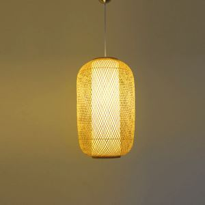 Woven Bamboo Pendant Light Special Round Pendant Light Dining Room Living Room Bedroom Balcony Hallway Lantern