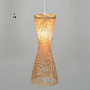 Spiral Bamboo Pendant Light Modern Hollow Pendant Light Living Room Bedroom Study Decorative Lighting