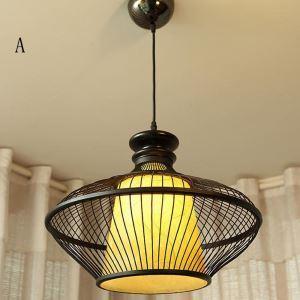 Industrial Bamboo Pendant Light Creative Hollow Pendant Light Dining Room Tearoom Lighting