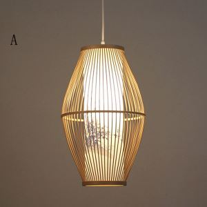 Simple Classical Pendant Light Chinese Style Bamboo Pendant Light Dining Room Study Office Lighting