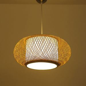 Decorative Bamboo Pendant Light Modern Creative Pendant Light Dining Room Study Cozy Light