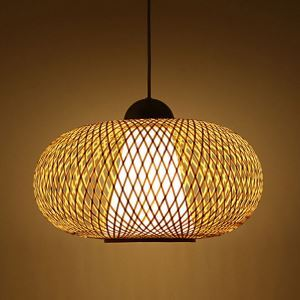 Bamboo Lantern Pendant Light Modern Woven Pendant Light Living Room Bedroom Study Office Light
