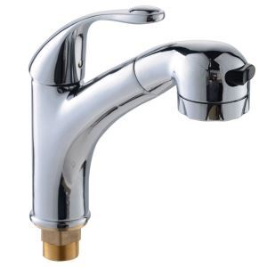 Unique Chrome Kitchen Faucet Modern Pull-out Kitchen Tap