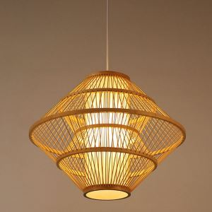 Special Bamboo Pendant Light Unusual Woven Pendant Light Bedroom Dining Room Hotel Lighting