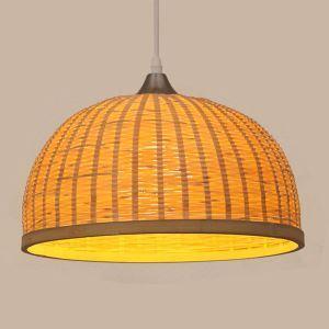 Dome Design Pendant Light Creative Bamboo Pendant Light Living Room Bedroom Study Decorative Light