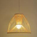 Hand Made Dome Bamboo Pendant Light