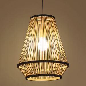 Bamboo Bedside Pendant Light Creative Woven Pendant Light Living Room Study Office Lighting