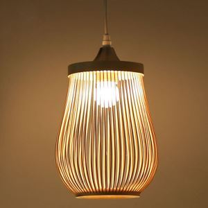 Hollow Cage Pendant Light Modern Bamboo Pendant Light Living Room Bedroom Study Hallway Lighting