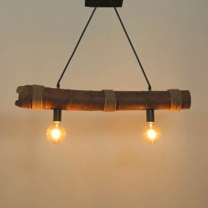 Vintage Creative Bamboo Pendant Light Industrial Retro Pendant Light Dining Room Lighting