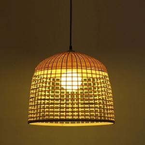 Fashional Bamboo Dome Pendant Light Creative Chinese Pendant Light Living Room Bedroom Study Lighting