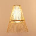Creative Chinese Bamboo Pendant Light Downward Hollow Pendant Light Dining Room Tearoom Hallway Lighting