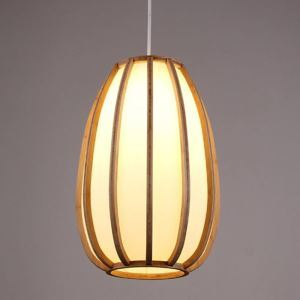 Simple Japanese Pendant Light Woven Bamboo Pendant Light Living Room Bedroom Dining Room Study Lighting