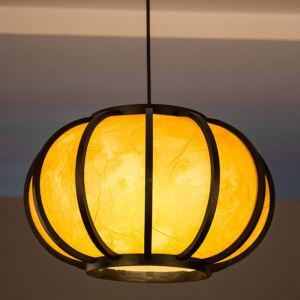 Creative Japanese Bamboo Pendant Light Modern Simple Pendant Light Dining Room Tearoom Round Light