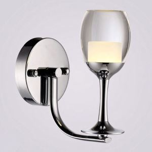 LED Wine Glass Wall Sconce Modern Creative Wall Light Bedside Balcony Aisle Bar Lighting