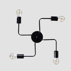 Creative Black Flush Mount Simple Nordic 4-lights Flush Mount Bedroom Dining Room Lighting